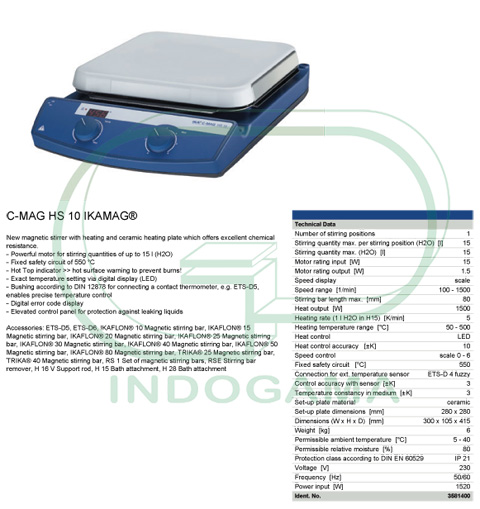 IKA Hotplate Stirrer C MAG HS10
