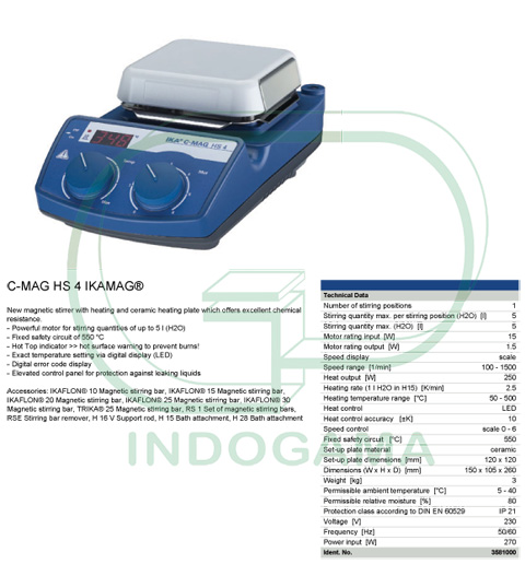 IKA Hotplate Stirrer C MAG HS4