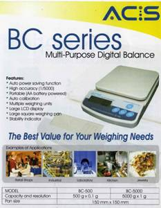ACIS DIGITAL BALANCE BC SERIES